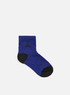 Jordan - Elephant Print Socks, Black/Black/Concord