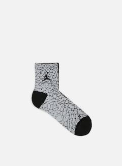 Jordan - Elephant Print Socks, Black/Black/Wolf Grey