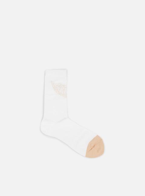 accessori jordan jordan 2 crew socks white beige