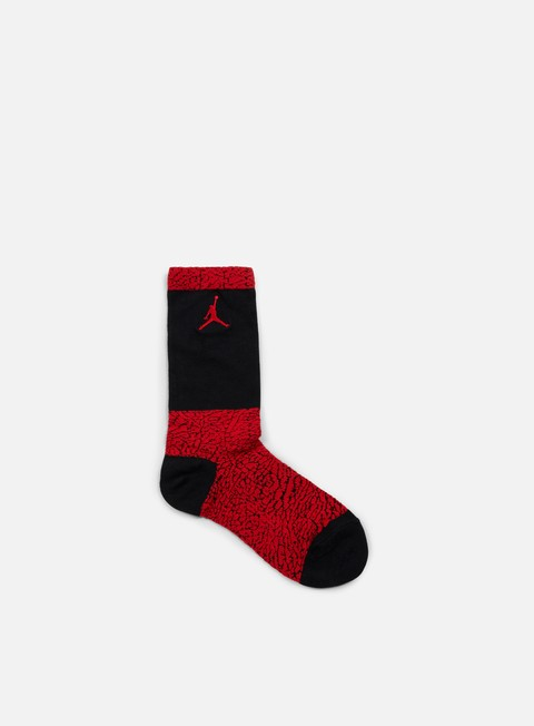 accessori jordan jordan elephant crew socks gym red black