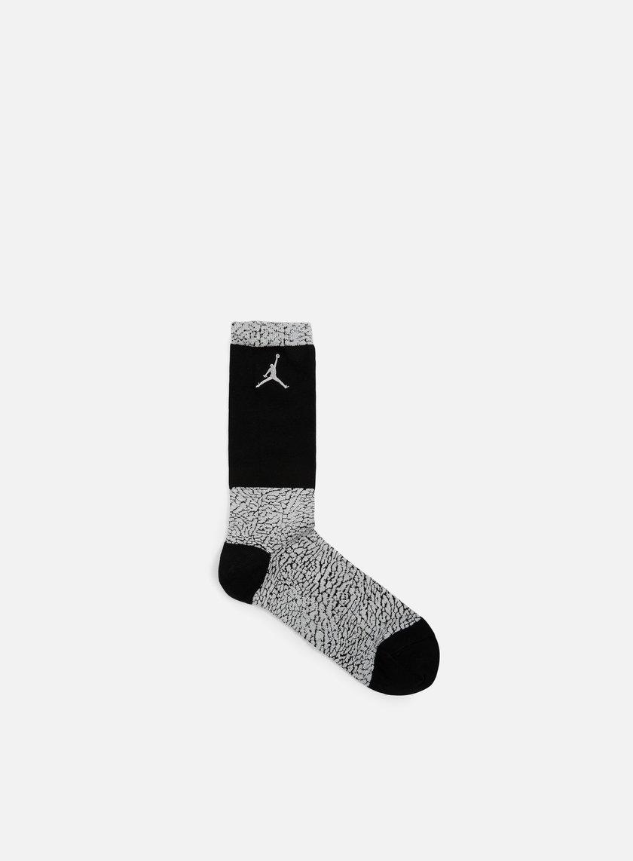 Jordan - Jordan Elephant Crew Socks, Wolf Grey/Black