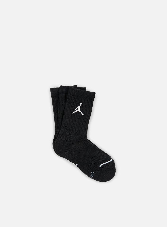 Jordan - Jumpman 3 Pack Crew Socks, Black/White