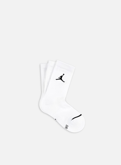 accessori jordan jumpman 3 pack crew socks white black