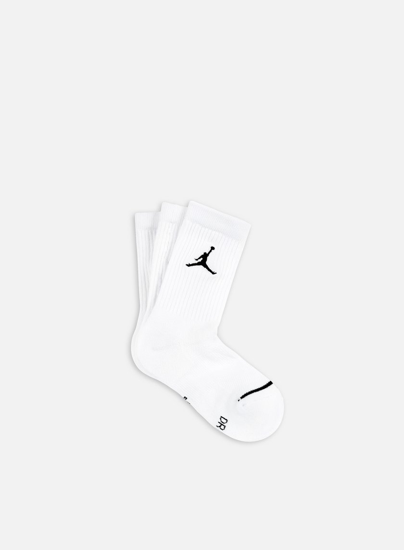 Jordan - Jumpman 3 Pack Crew Socks, White/Black