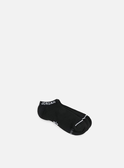 accessori jordan jumpman 3 pack no show socks black black