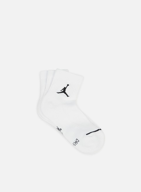 accessori jordan jumpman 3 pack quarter socks white black