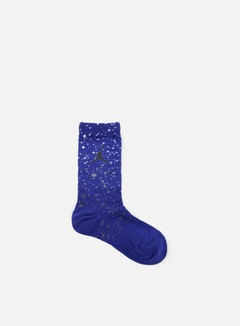 Jordan - Speckle Crew Socks, Concord/Black
