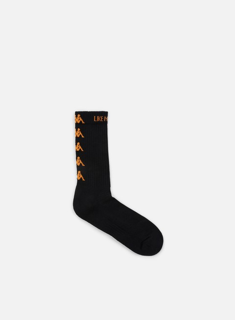 accessori kappa kontroll banda socks black orange rust