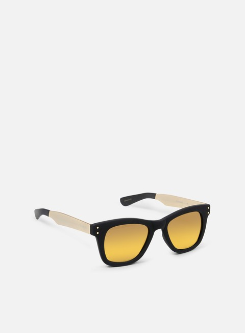 accessori komono allen sunglasses black rubber gold
