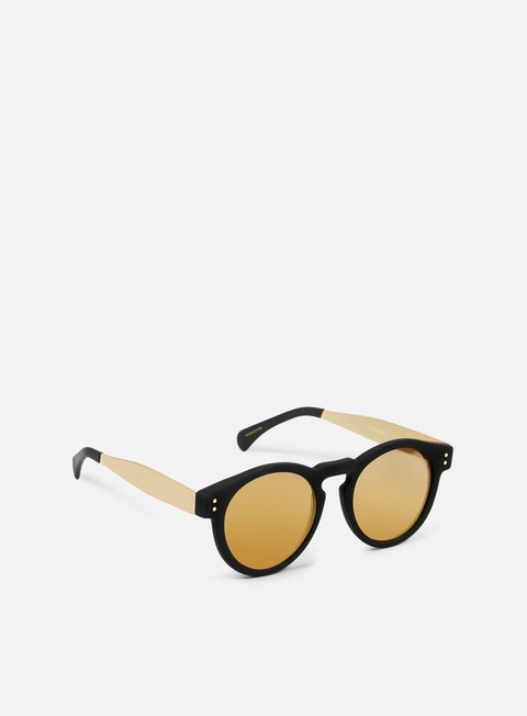 accessori komono clement sunglasses black rubber gold