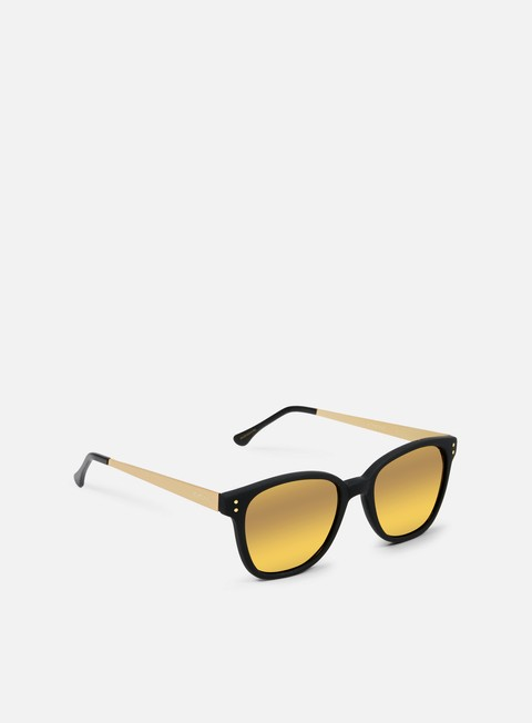 accessori komono renee sunglasses black rubber gold