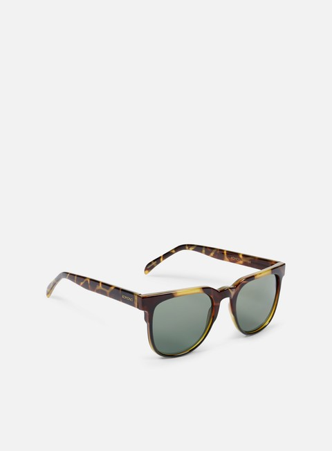 accessori komono riviera sunglasses green tortoise