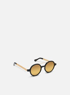 Komono - Vivien Sunglasses, Black Rubber/Gold