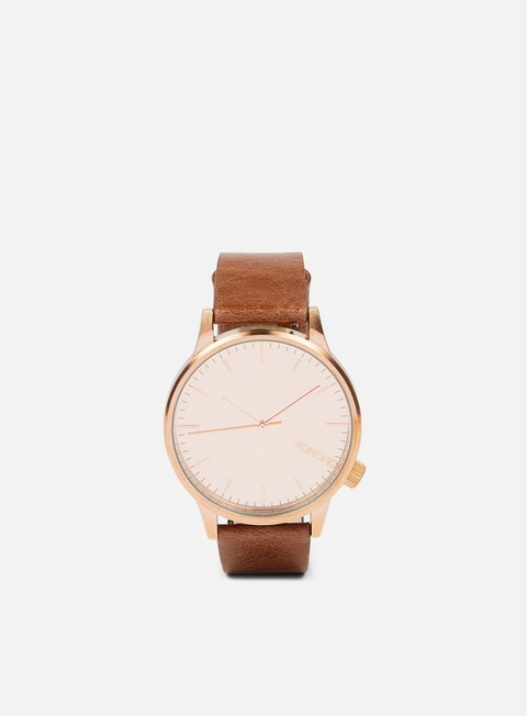 accessori komono winston mirror rose gold cognac