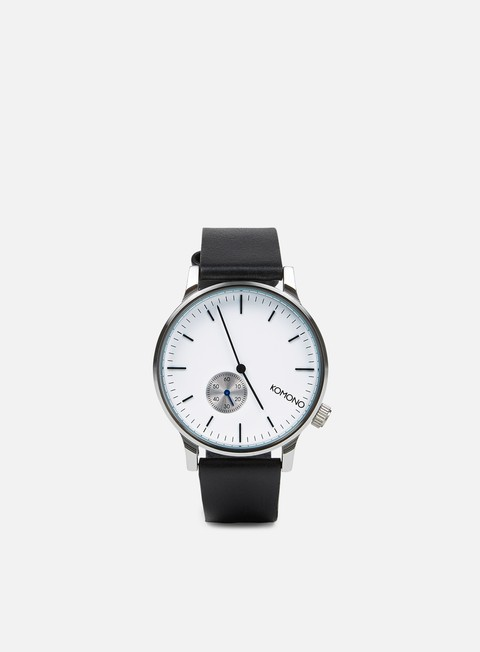 accessori komono winston subs watches silver white