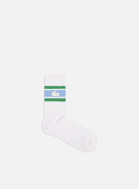 Lacoste Live Striped Cotton Jersey Socks