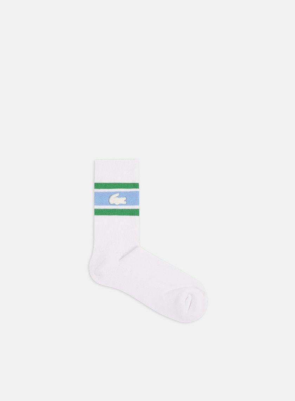Lacoste Live Striped Cotton Jersey Socks