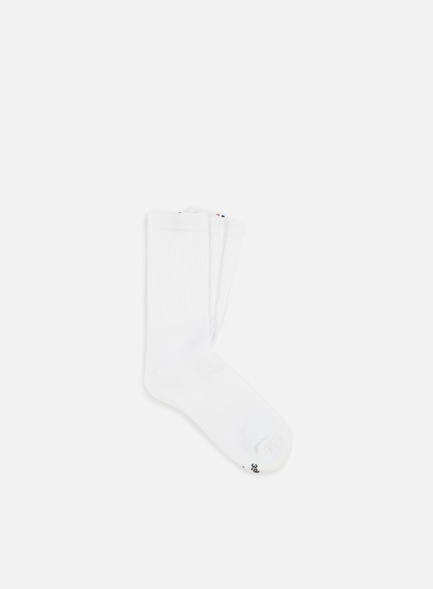 accessori le coq sportif essential new classique 3 crew socks optical white