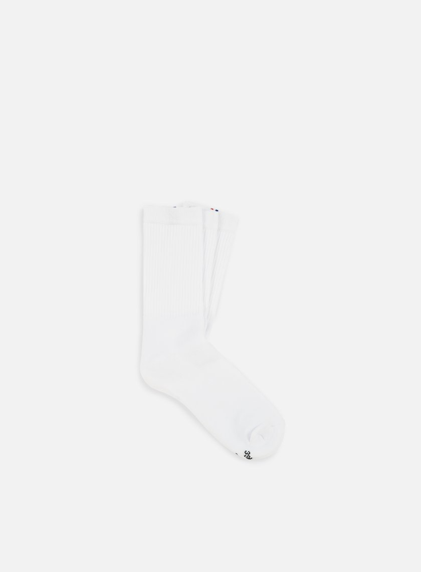 Le Coq Sportif - Essential New Classique 3 Crew Socks, Optical White