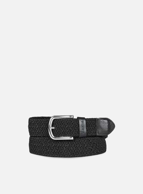 accessori makia braided canvas belt black