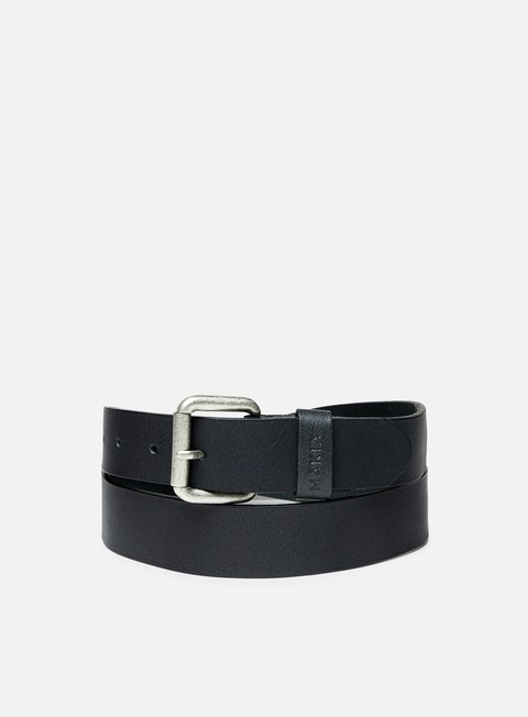 accessori makia leather belt black