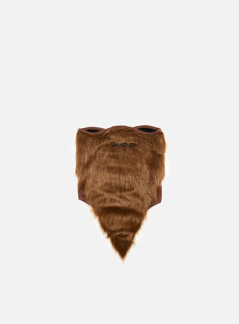 accessori neff bearded facemask brown