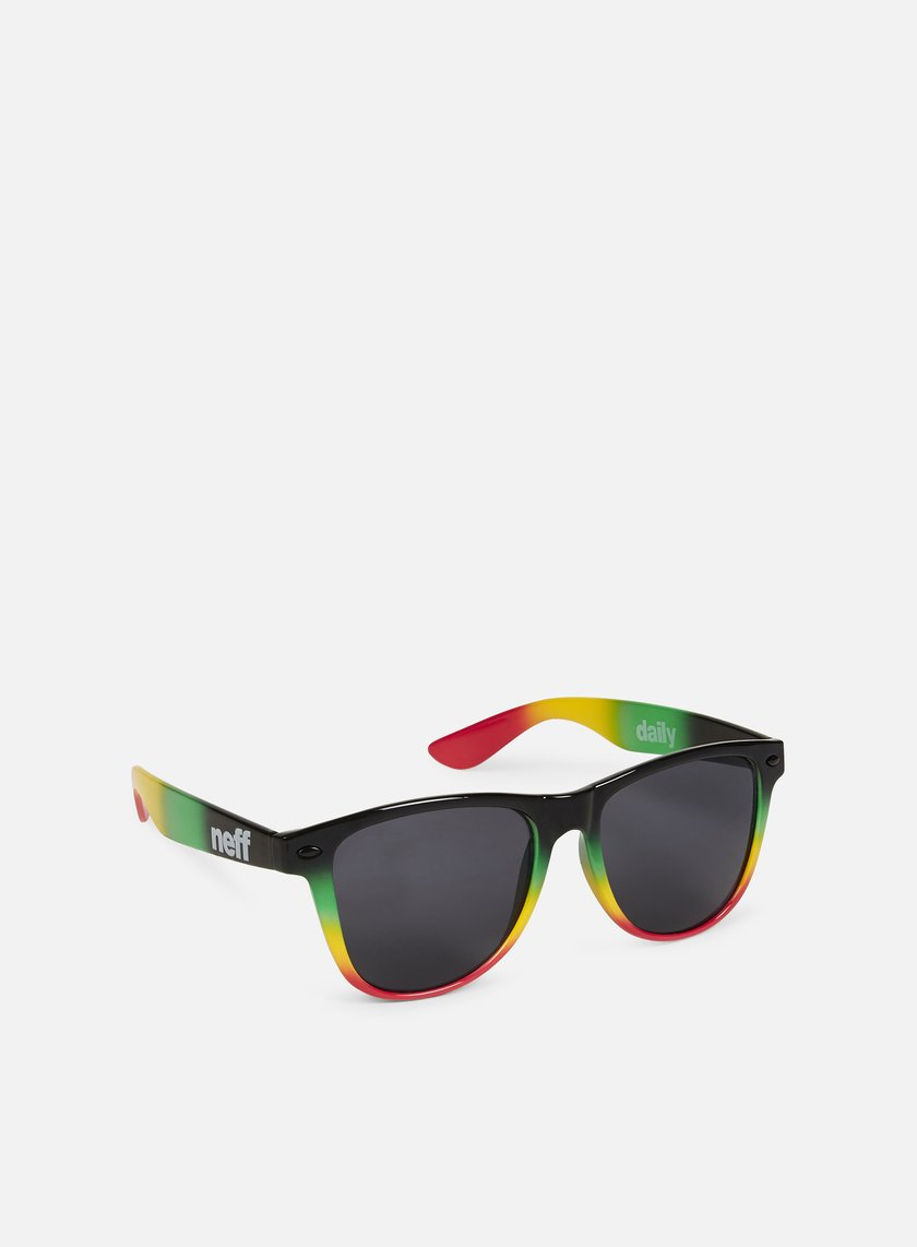 Neff - Daily Shades Sunglasses, Rasta Spray