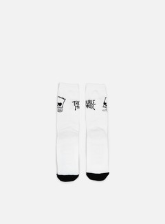 Neff - Trouble Socks, White 1