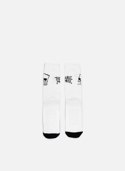 accessori neff trouble socks white