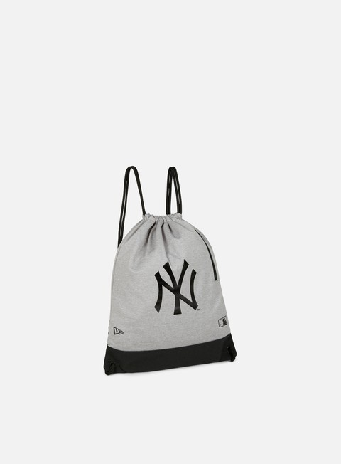 accessori new era mlb premium heather gym sack new york yankees gray black