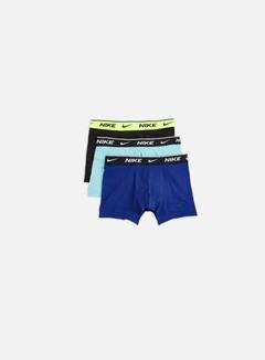 Nike - Everyday Cotton Stretch 3 Pack Trunk, Bleached Aqua/Deep Royal/Black