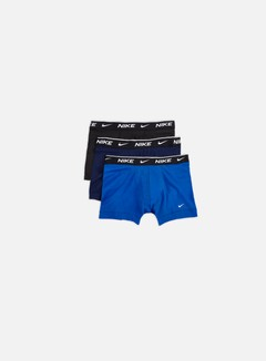 Nike - Everyday Cotton Stretch 3 Pack Trunk, Obsidian/Game Royal/Black