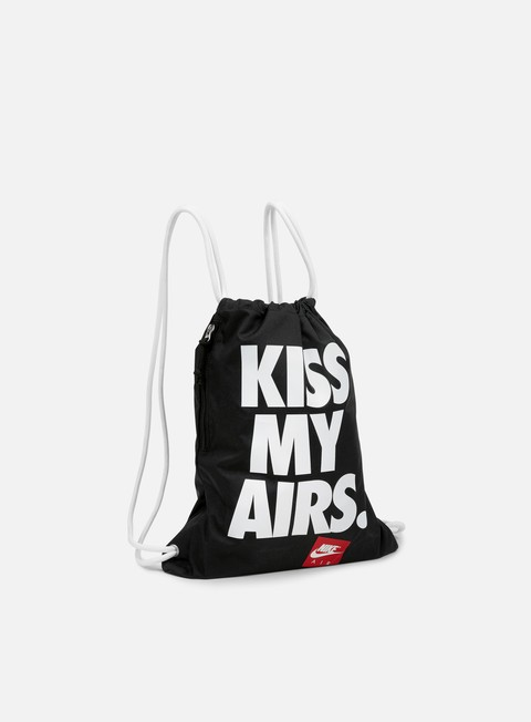 accessori nike heritage graphic gymsack black white