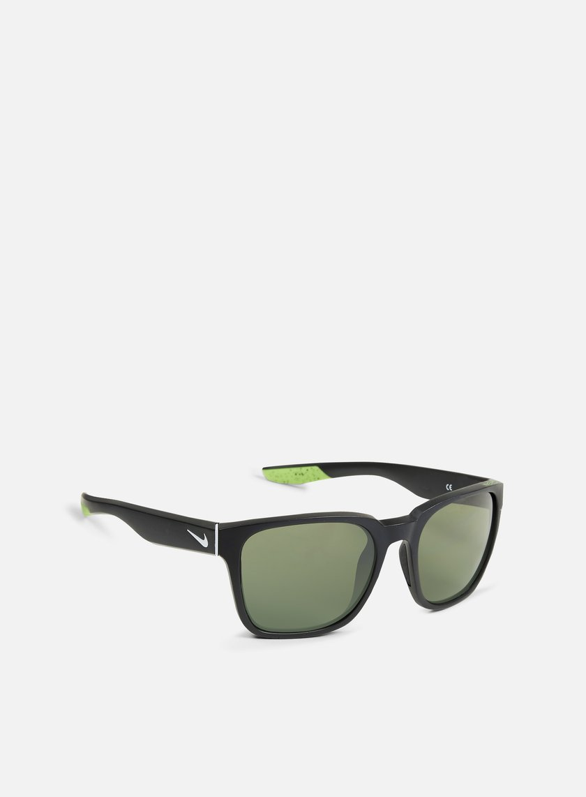 Nike SB - Recover Sunglasses, Matte Black/Wolf Grey/Green