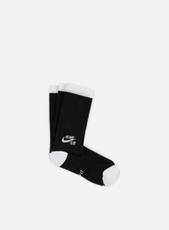 Nike SB - SB 3 Pack Crew Socks, Black/White