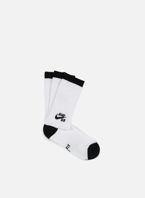 accessori nike sb sb 3 pack crew socks white black