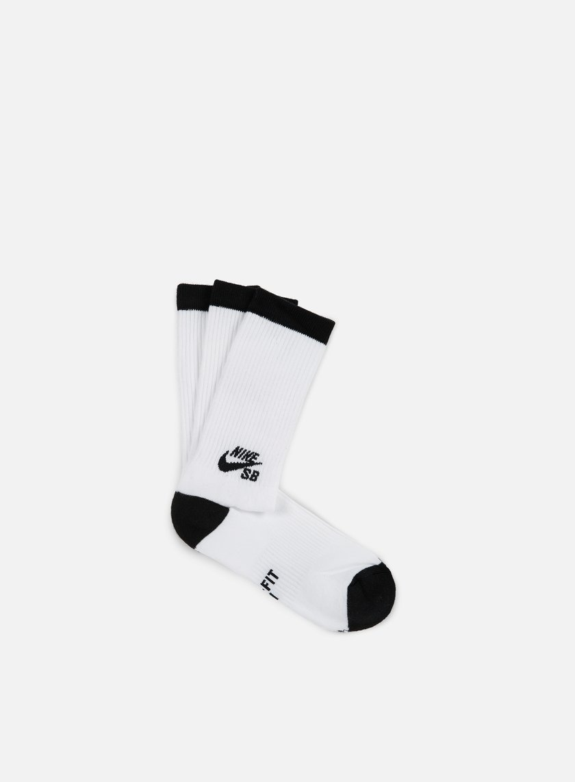 Nike SB - SB 3 Pack Crew Socks, White/Black