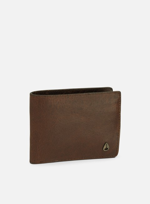 accessori nixon arc se bi fold wallet black brown