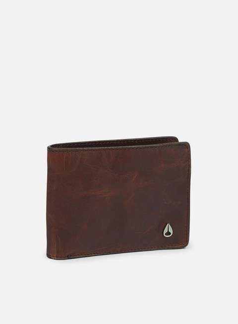 accessori nixon arc se bi fold wallet brown