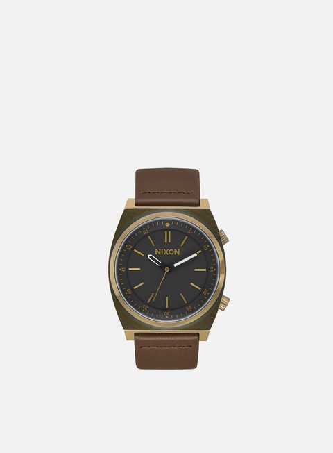 accessori nixon brigade leather brass black taupe