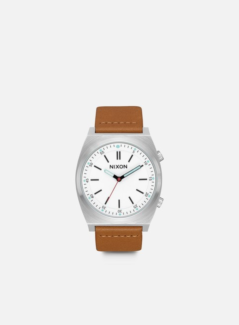 accessori nixon brigade leather cream taupe