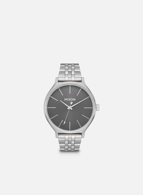 accessori nixon clique all silver grey