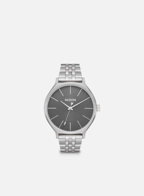 accessori nixon clique all silver grey