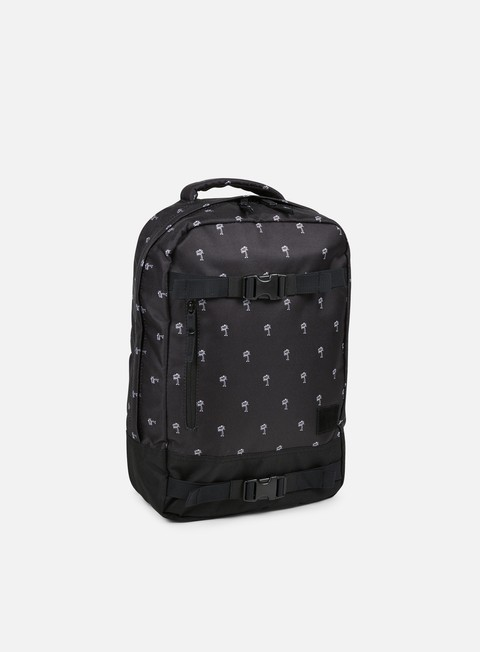 accessori nixon del mar backpack black white