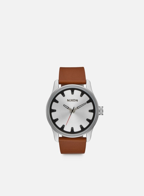accessori nixon driver leather black brown