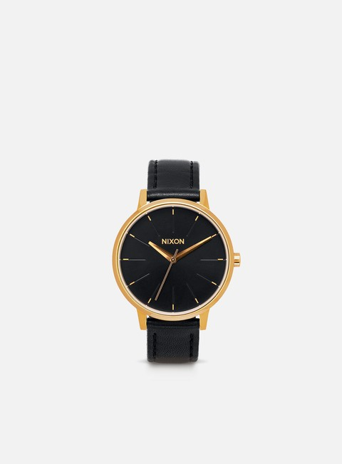accessori nixon kensington leather gold black