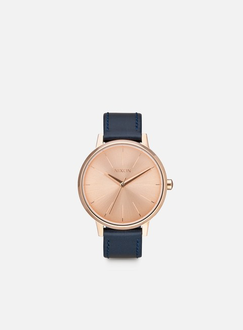 accessori nixon kensington leather rose gold navy
