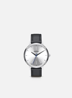 Nixon - Kensington Leather, Silver/Black/Blue
