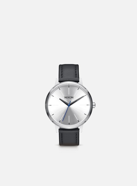 accessori nixon kensington leather silver black blue