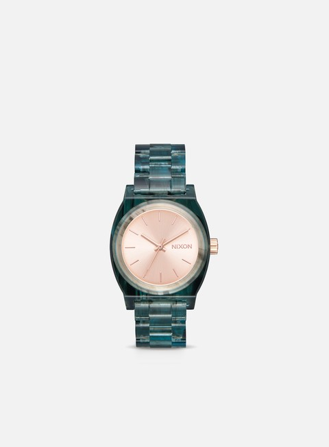 accessori nixon medium time teller acetate aqua